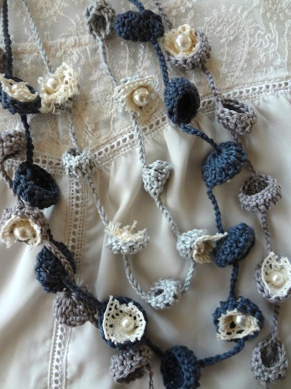 CROCHET PATTERN Bohemian Bells Necklaces,crochet necklace, flower ...