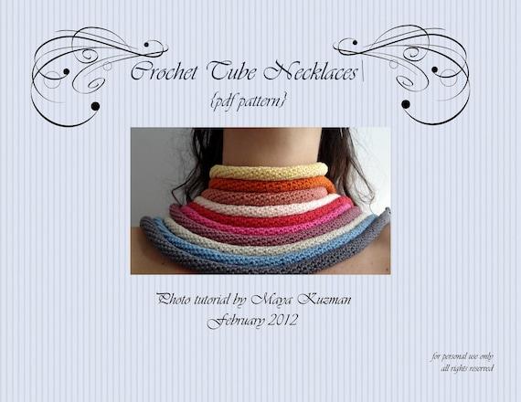 PDF Muster häkeln Crochet Tube Ketten Foto-Tutorial | Etsy