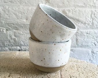 Rounded Mug | Toasty Speckle + Soft Matte White