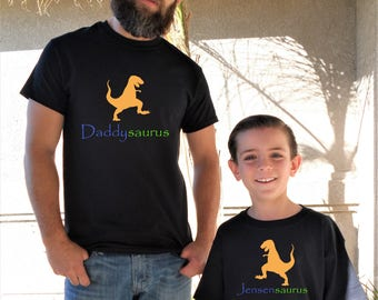 Father & Son Dinosaur Shirts