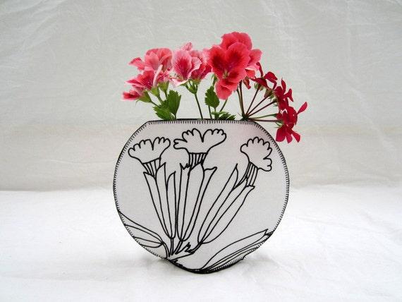 Marimekko Kevatesikko Fishbowl Fabric Vase Etsy