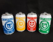 Original 4 Perk Cans from call of duty zombies Speed Cola, Juggernog soda, Doubletap Rootbeer and Quick Revive soda 9 oz Insulated can.