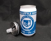 Quick Revive vacuum insulated 9 oz can with removable lid and straw.