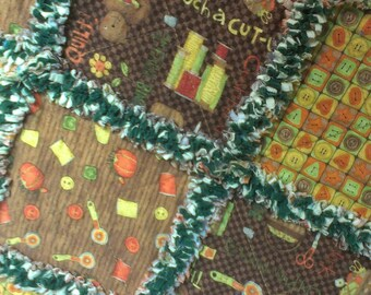 SEWING RAG QUILT