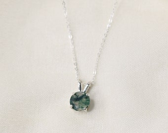 7mm Moss Agate Necklace