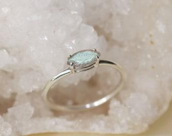 8x4 Marquise Labradorite Ring