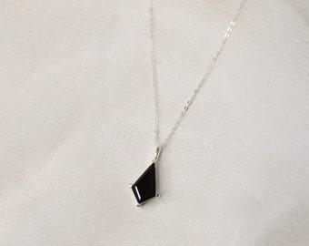 Black Spinel Kite Necklace