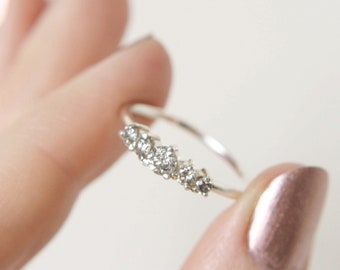 Salt and Pepper Diamond Artemis Ring