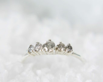 Salt and Pepper Diamond Artemis Ring