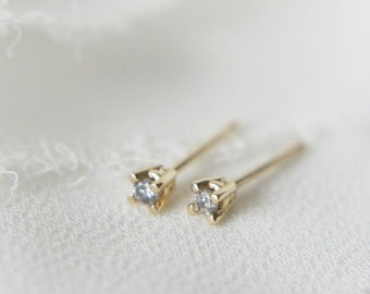2mm Salt and Pepper Diamond Stud Earrings