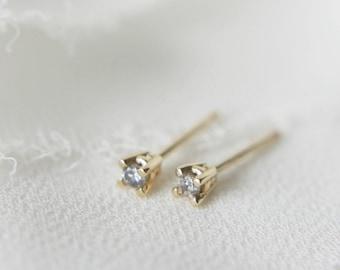 2mm Salt and Pepper Diamond Stud Earrings
