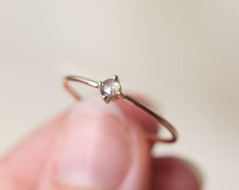 Starlight Diamond Solitaire Ring