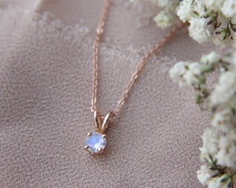4mm Moonstone Necklace