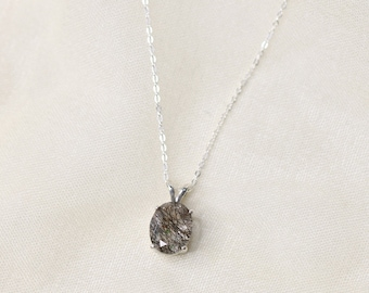 10x8 Oval Tourmalinated Quartz Necklace