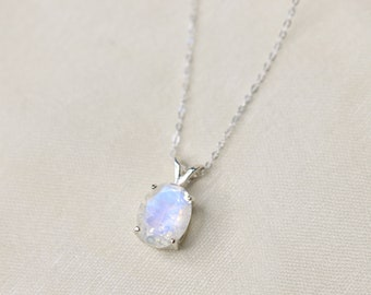 10x8 Oval Moonstone Necklace