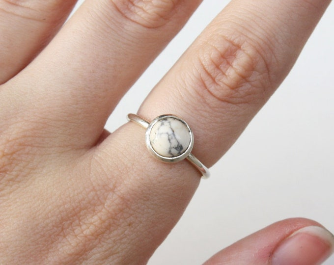 Marble Howlite Stacking Ring