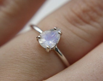7x5 Pear Moonstone Ring