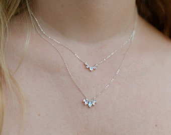 Laurel Necklace in Moonstone