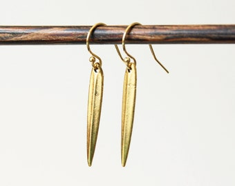 Gold Fill Dagger Earrings