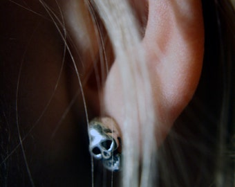 Memento Mori Skull Stud Earrings