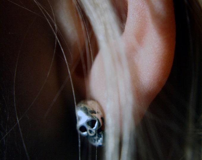 "Petite Mort ""Little Death"" Skull Stud Earrings"