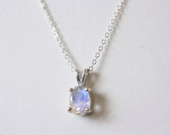 7x5 Oval Moonstone Necklace
