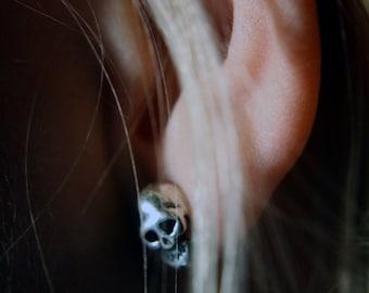 Memento Mori Skull Stud Earrings