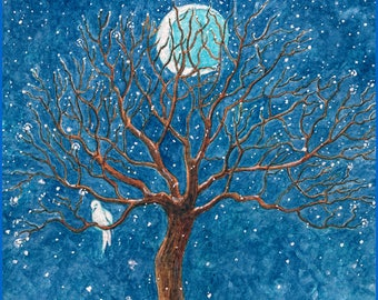 Dreaming Peace Handmade Winter Holiday Card DESIGN NO. 164