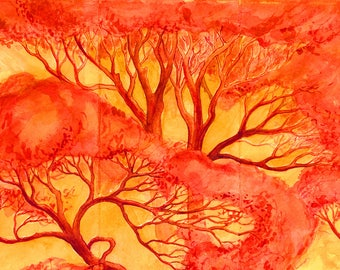 Autumn Dream Archival Hand Made Blank Greeting Card  DESIGN NO. 105