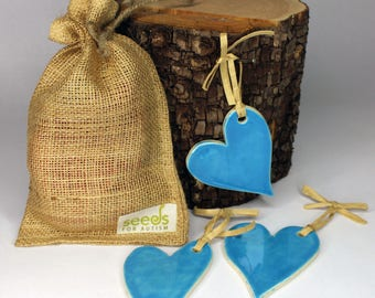 Blue Ceramic Heart Set - Set of 3 - Have a Heart!