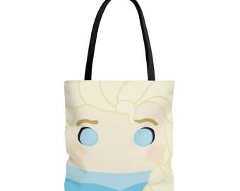 Elsa tote, tote bag, book bag, halloween tote, kids,