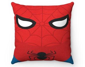 Superhero pillow, Faux Suede Square Pillow, throw pillow, cushion, almohada