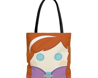 Anna tote, tote bag, book bag, halloween tote, kids,