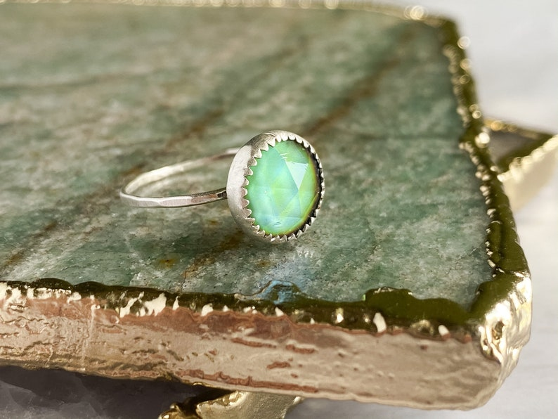 Mood Ring \u2022 Sterling Silver Color Changing Ring \u2022 Boho Hippy Jewelry