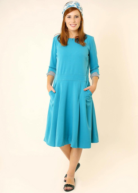 Style blue dress midi length ponsonby road
