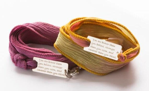 We Positive We Friendship Leather Wrap Message Italian Bracelet Violet Purple Style 142