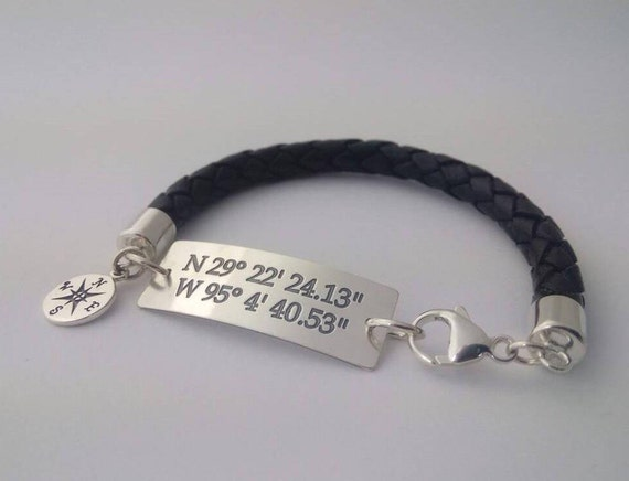Child loss Baby loss. Mens Memorial spinning SECRET message sterling silver BOLO leather bracelet with Your text . Remembrance Perfect Sympathy GIFT for HIM