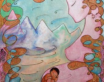 Healing art.Early bird offer.Divine feminine.Womanhood.Art for Women.Wooden art.Pregnancy art.Pyrography art.Art sale.Wind image.Wind woman