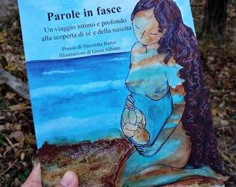 Poetry book.Babywearing.Motherhood art.Parenting book.Italian.Italian book.Italian poetry.Motherhood art.Motherhood images.Babywearing words