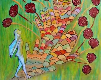 Healing art.Resin painting.Divine feminine.Womanhood.Women.Wooden painting.Healing path.Gioia Albano.Pyrography art.Sacred art.Crystal resin