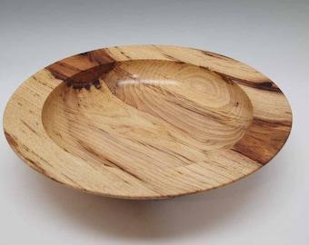 Bird Pecked Hickory Wood Bowl