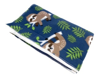 Happy sloths Guinea Pig Fleece Cage Liner | Waterproof | Anti-Shrink Design | Handmade With Love For Guinea Pigs | Custom Sizes Offered