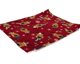 Holiday reindeer  Guinea Pig Fleece Cage Liner | Waterproof | Anti-Shrink Design | Handmade With Love For Guinea Pigs | Custom Sizes Offered