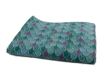 Green mermaid scales Guinea Pig Fleece Cage Liner | Waterproof | Anti-Shrink Design | Handmade With Love For Guinea Pigs | Custom Sizes