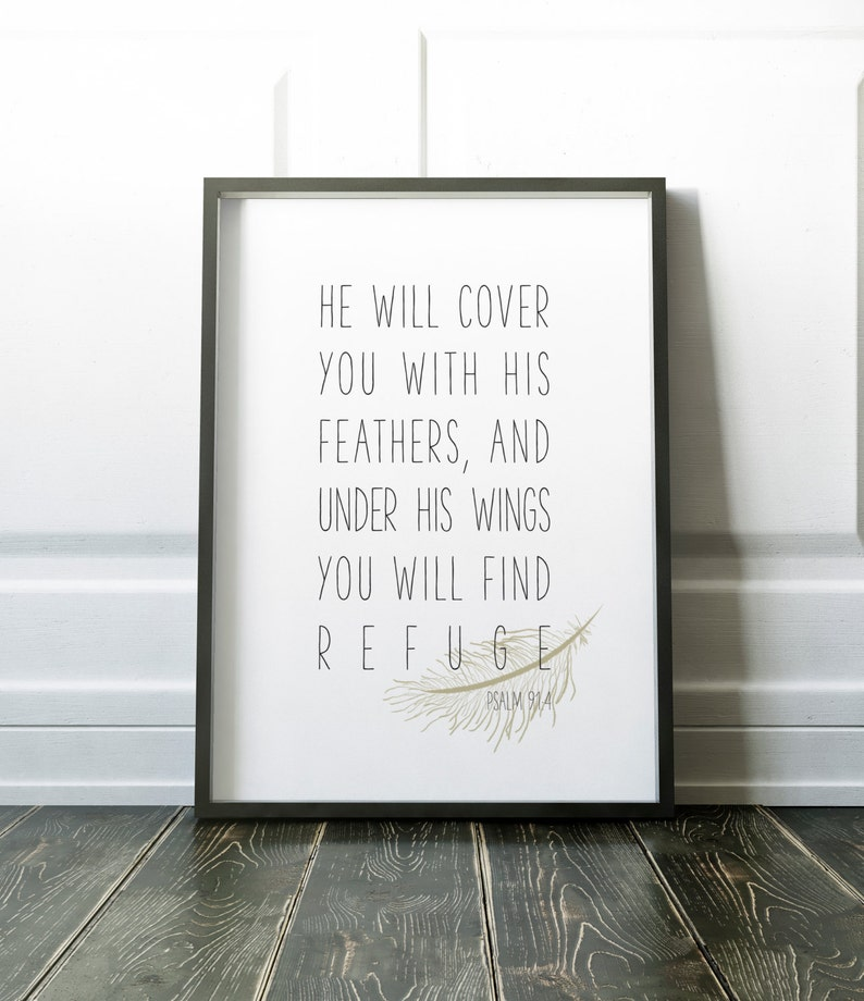 He will cover you with His feathers and under His wings you image 0