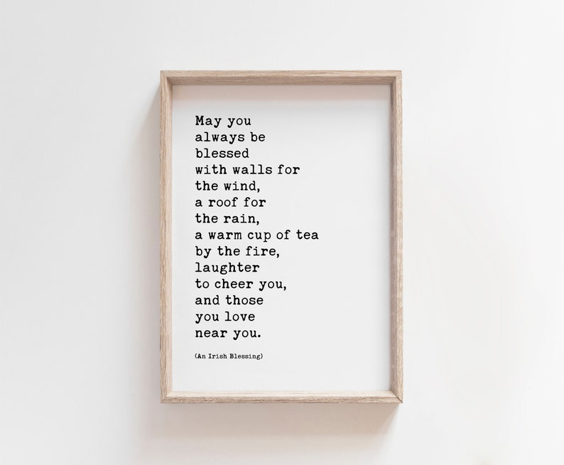 Irish Blessing May You Always Be Blessed INSTAND DOWNLOAD image 0
