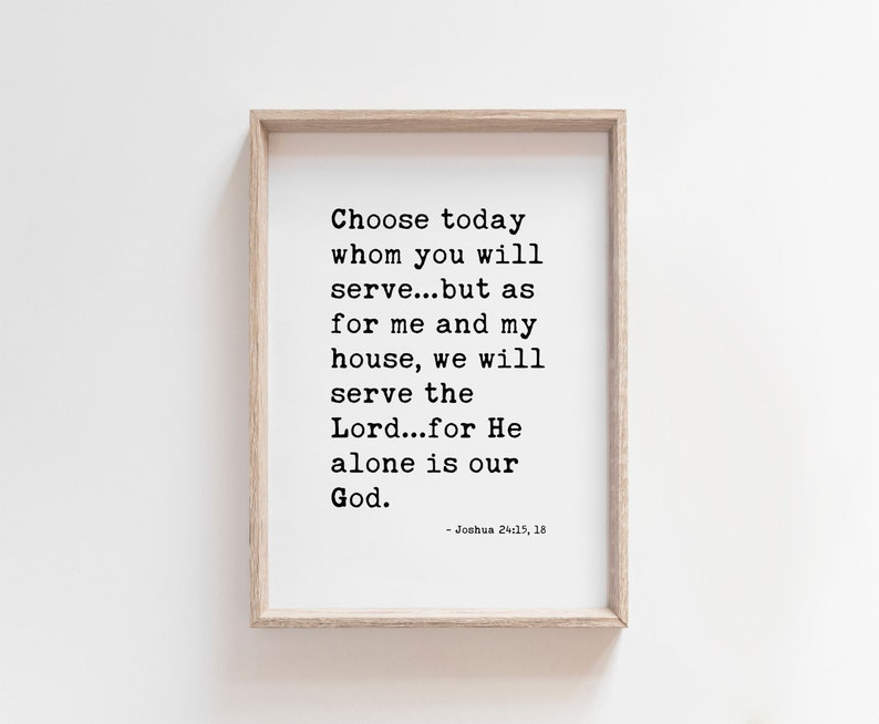 Choose today whom you will serve Joshua 24 DOWNLOADABLE image 0