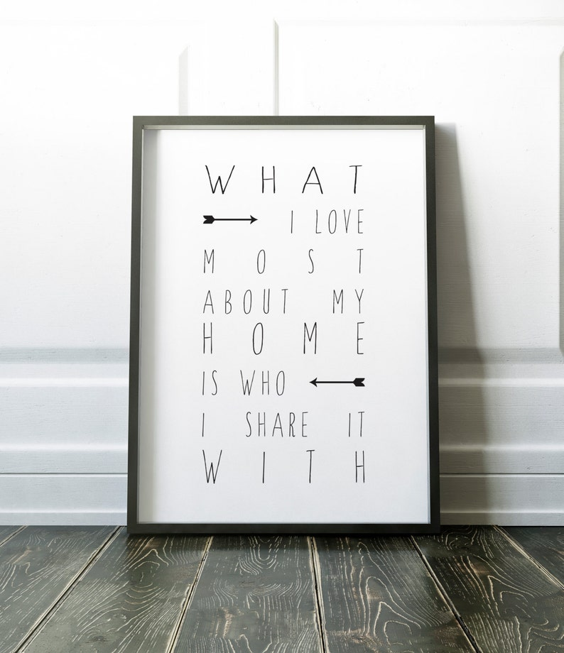 What I love most about my home is who I share it with Giclee image 0