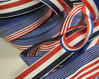 5abb77110 Patriotic red white and blue Grosgrain Ribbon trim