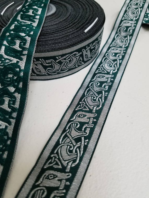 Griffin Celtic Medieval Metallic Jacquard trim 1 3//8 inches wide sold the yard